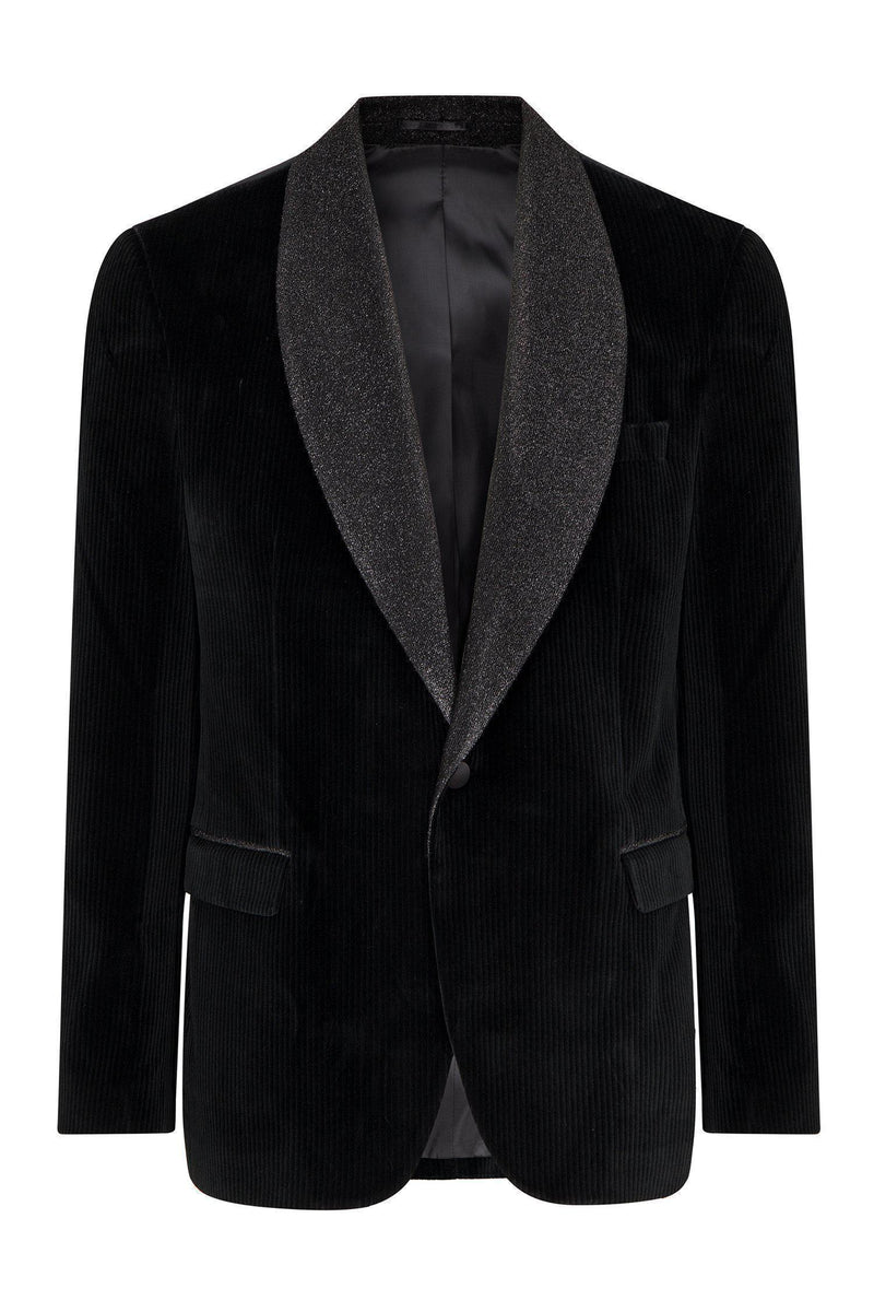 Glitter Shawl Lapel Cotton Velvet Tuxedo - Ron Tomson