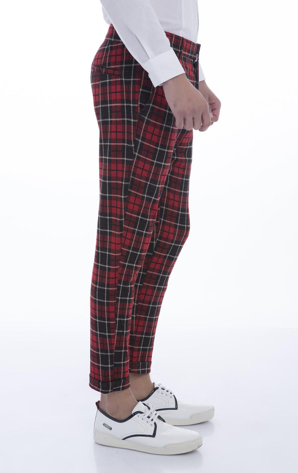 Hafta Sonu Track Pants - Black Red