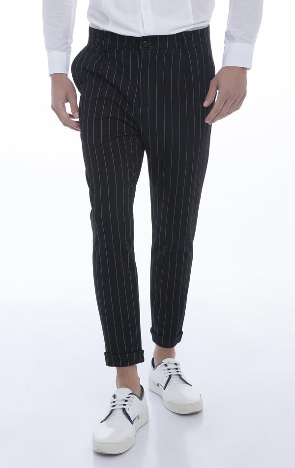 Hafta Sonu Track Pants - Black Stripe - Ron Tomson