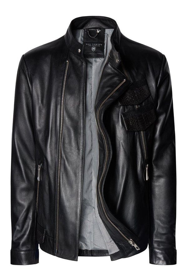 Heartbreaker Leather Jacket - Black Multi - Ron Tomson
