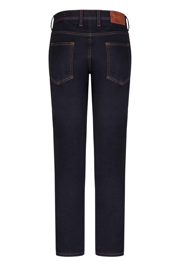 Inseam Stitch Jeans - Dark Blue