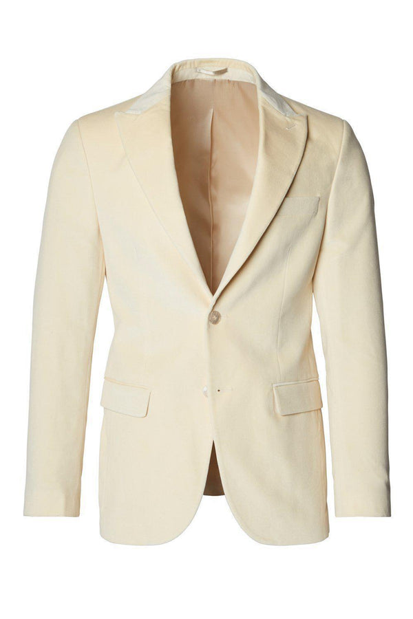Italian Velvet Dinner Jacket and Pants - BEIGE - Ron Tomson