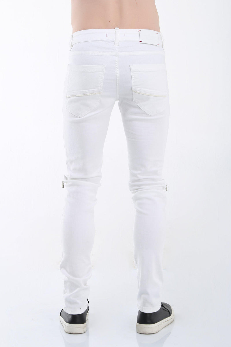 Knee Zip Distressed Jeans - More Colors-Jeans-Ron Tomson-RED COPPER-29-Ron Tomson