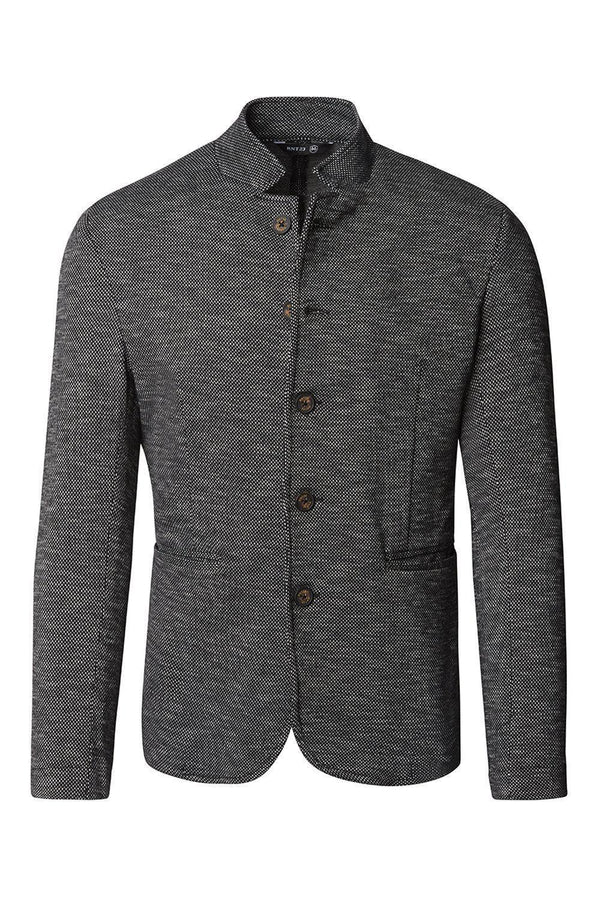 Knit Blazer - Black Nope - Ron Tomson