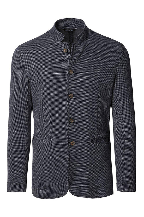 Knit Blazer - Navy Nope - Ron Tomson