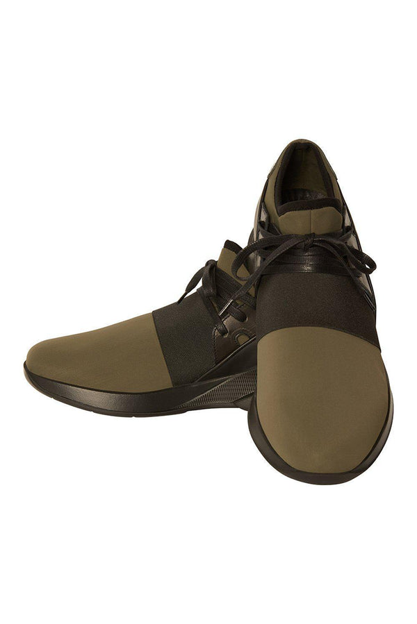 Lagoon Casual Sneaker - Olive Black - Ron Tomson