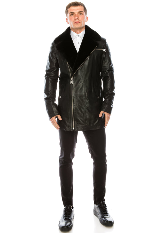 Leather Jacket - Black - 71178 - Ron Tomson