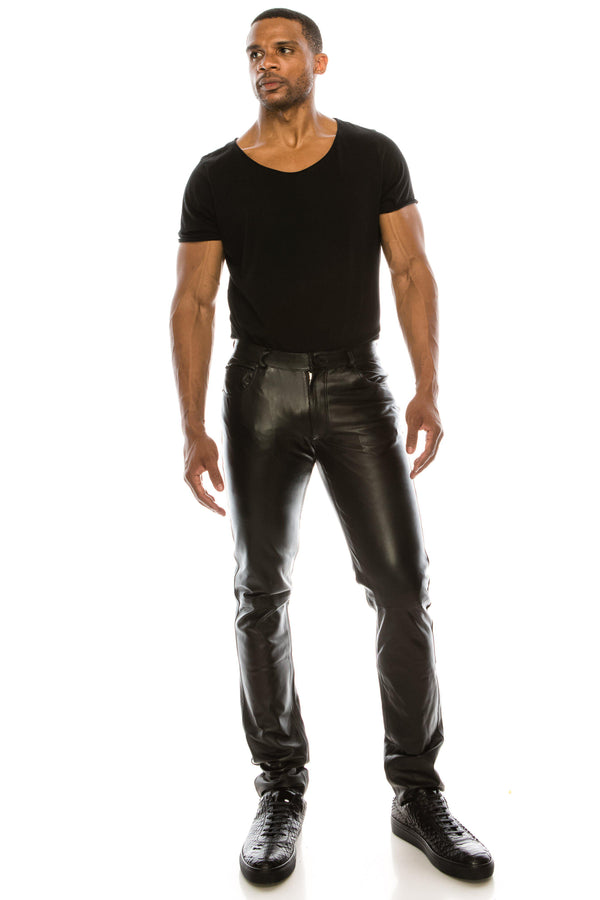 Leather Pants - Black - Ron Tomson