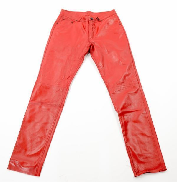 Leather Pants - Red - Ron Tomson