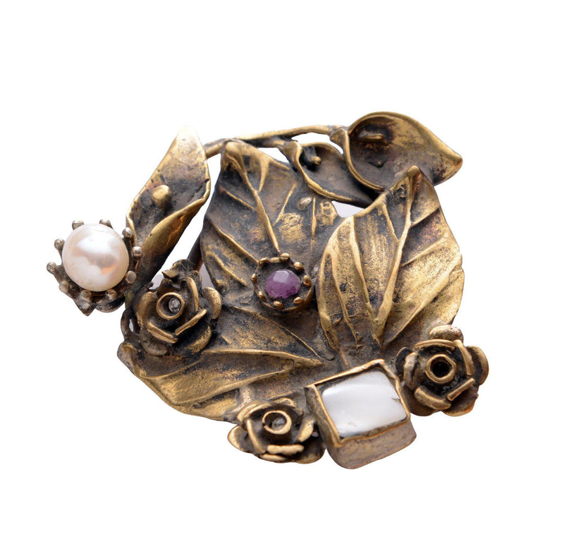 Leaves and Stones Pendant Brooch - Ron Tomson