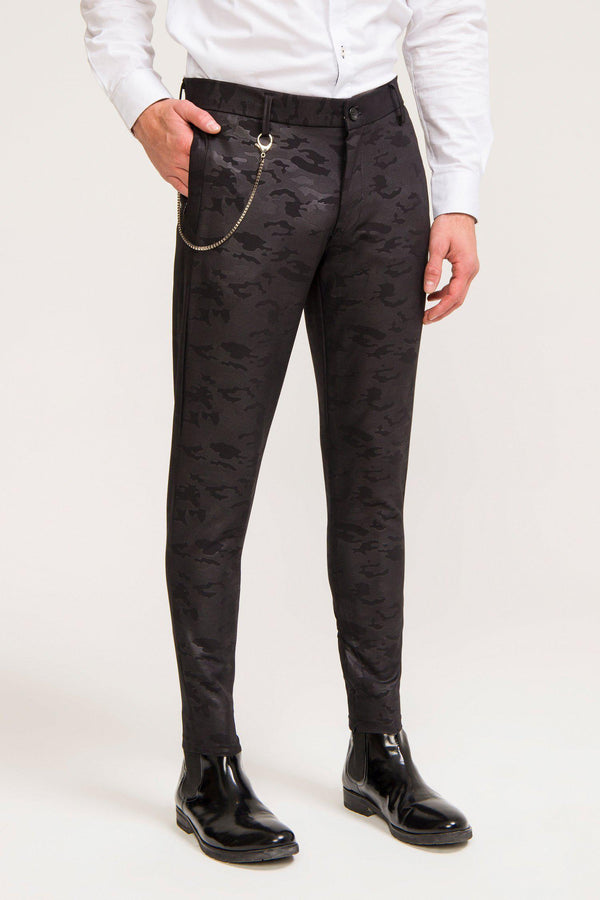LIGHTWEIGHT BLACK CAMO TROUSER