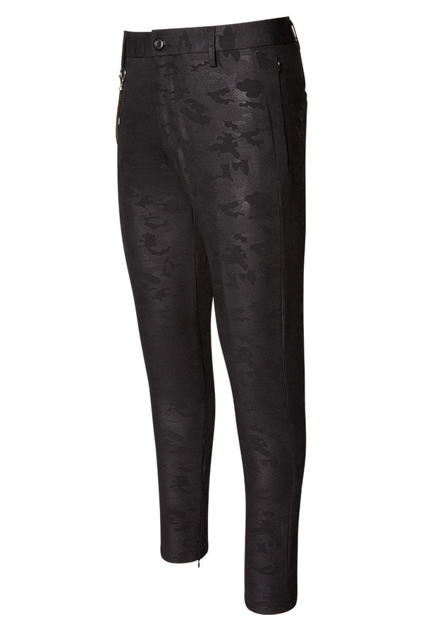 LIGHTWEIGHT BLACK CAMO TROUSER - Ron Tomson