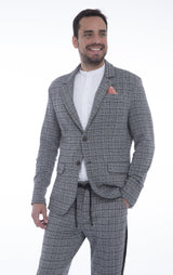Lightweight Fitted Casual Blazer - Black 1 - Ron Tomson