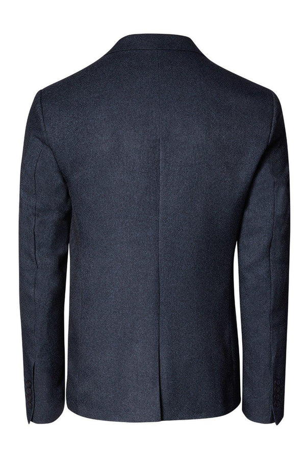 LIGHTWEIGHT GEOMETRIC BLAZER NAVY