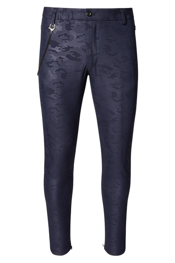 LIGHTWEIGHT NAVY CAMO TROUSER - Ron Tomson