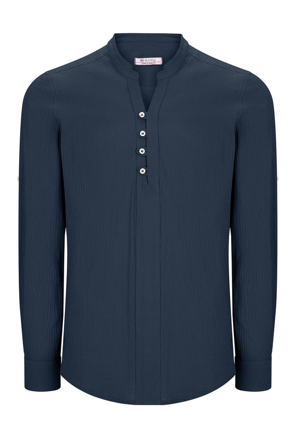 Lightweight Popover Shirt - NAVY