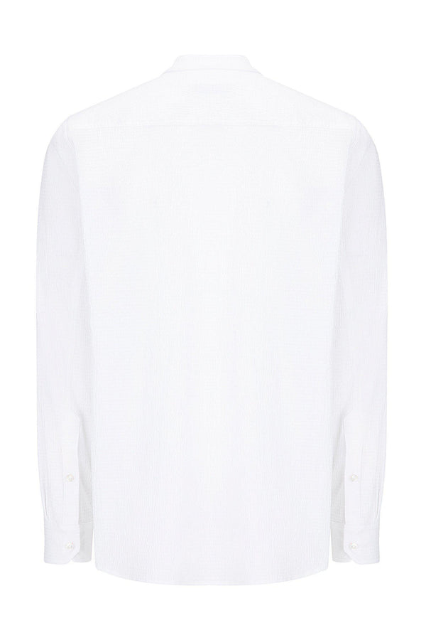 Lightweight Popover Shirt - WHITE