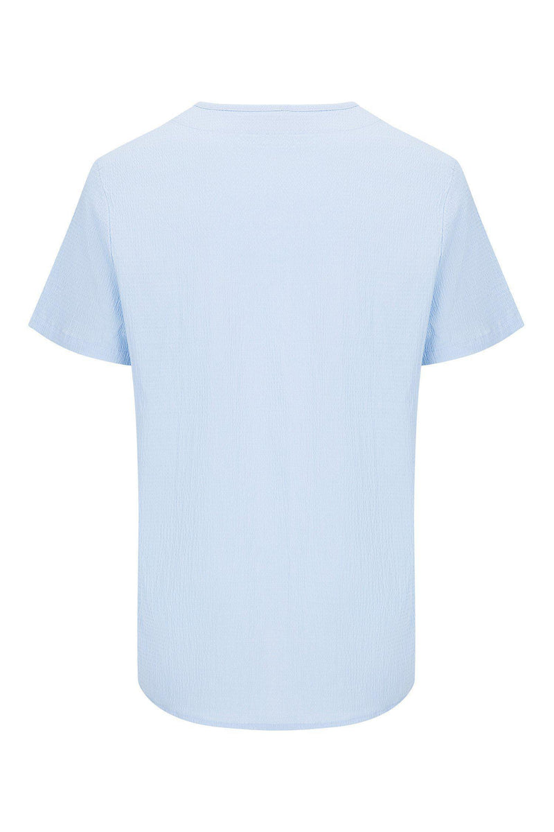 Lightweight Short Sleeve Shirt- Blue