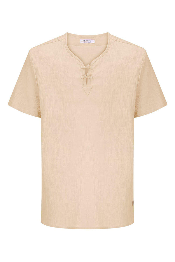 Lightweight Short Sleeve Shirt- Camel