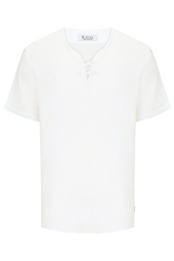 Lightweight Short Sleeve Shirt- Ecru