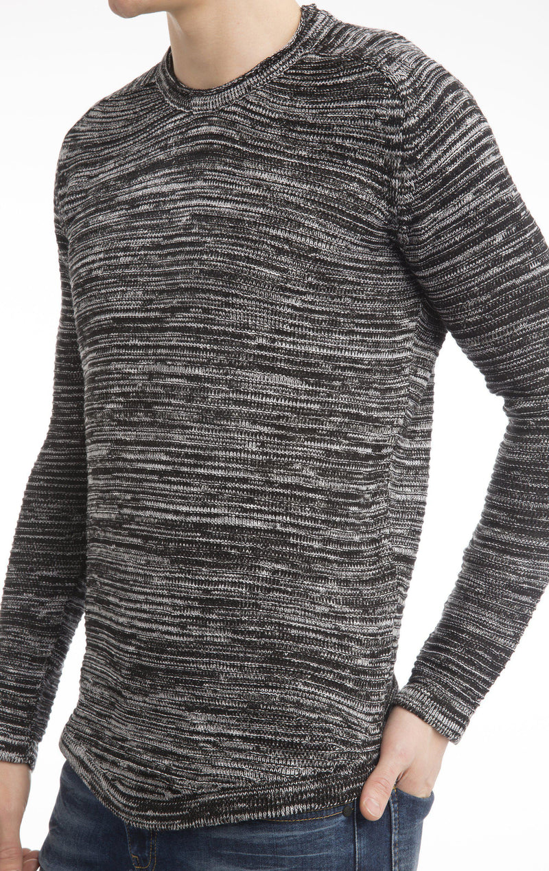 Lightweight Stretch Fitted Sweater-Knitwear-Ron Tomson-BLACK-M-Ron Tomson