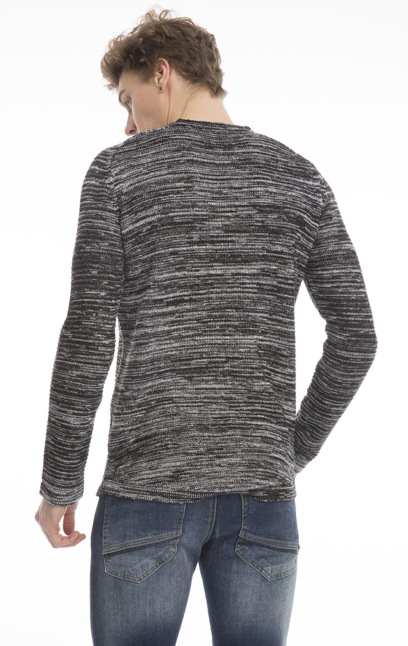 Lightweight Stretch Fitted Sweater-Knitwear-Ron Tomson-BLACK-L-Ron Tomson