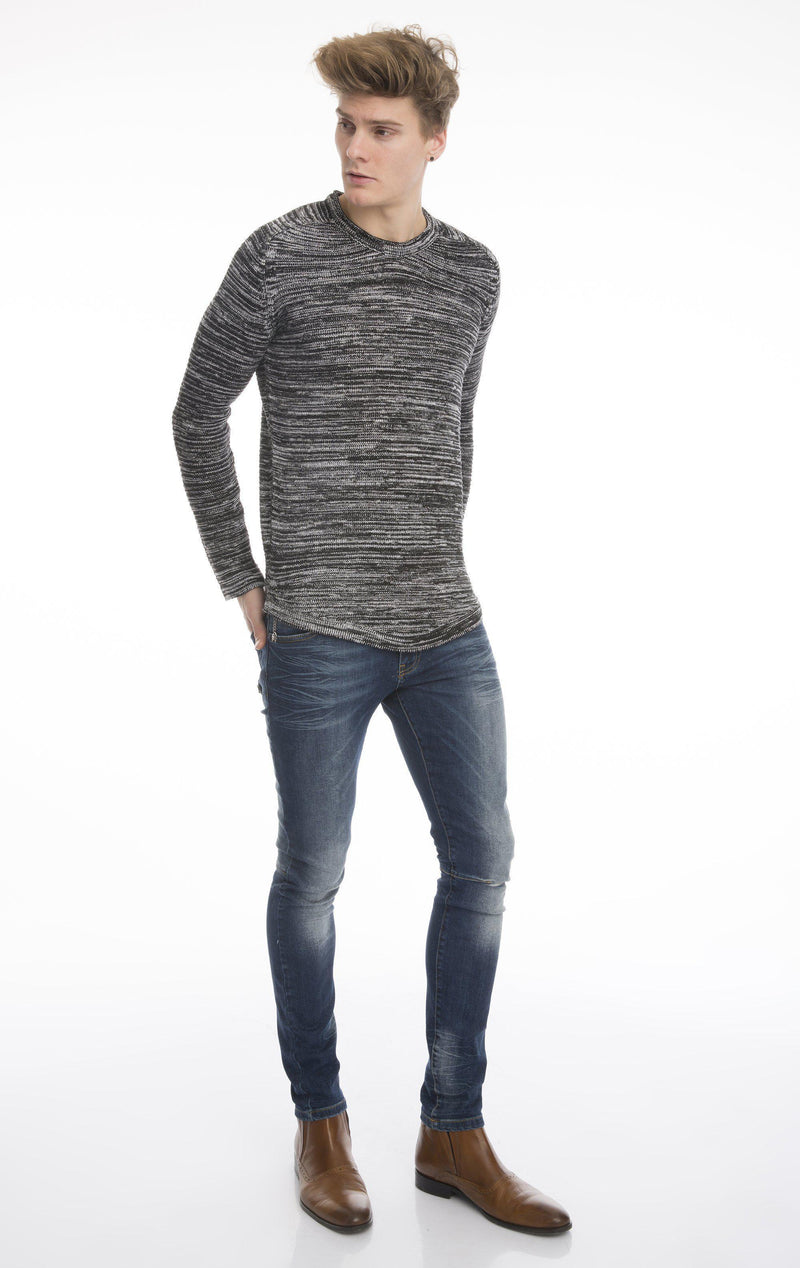 Lightweight Stretch Fitted Sweater-Knitwear-Ron Tomson-BLACK-S-Ron Tomson