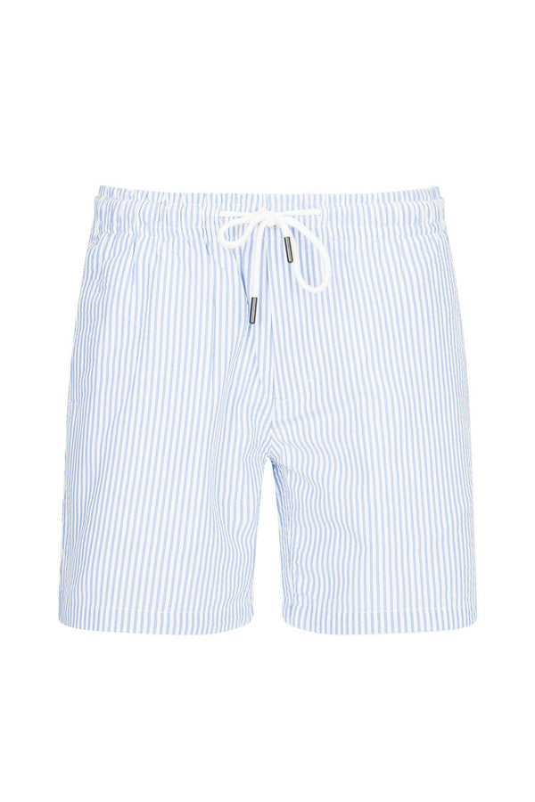 LIGHTWEIGHT STRIPED SHORTS - BLUE