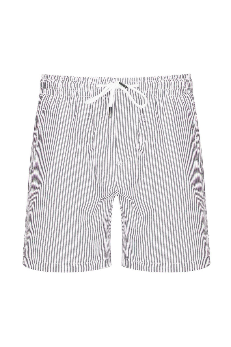 LIGHTWEIGHT STRIPED SHORTS - DARK NAVY - Ron Tomson
