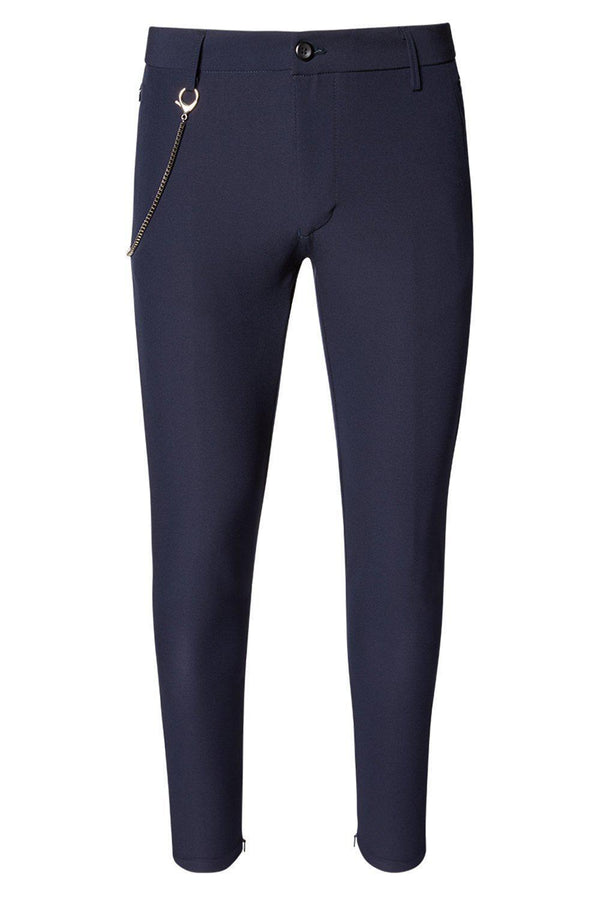 LIGHTWEIGHT TAILORED TROUSER NAVY - Ron Tomson