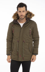 Long Line Faux Fur Hidden Anorak - More Colors - Ron Tomson