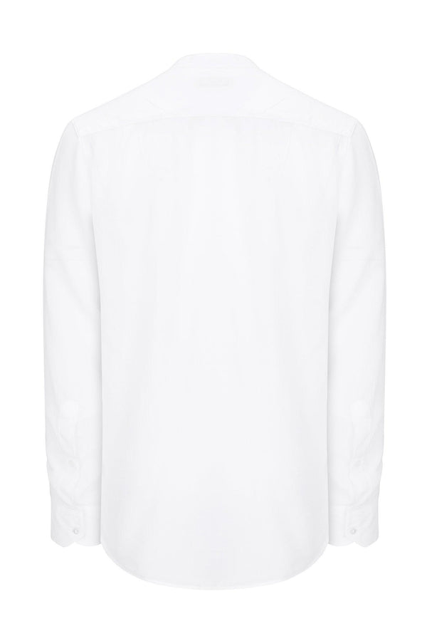 Long Sleeve Cotton Shirt - White