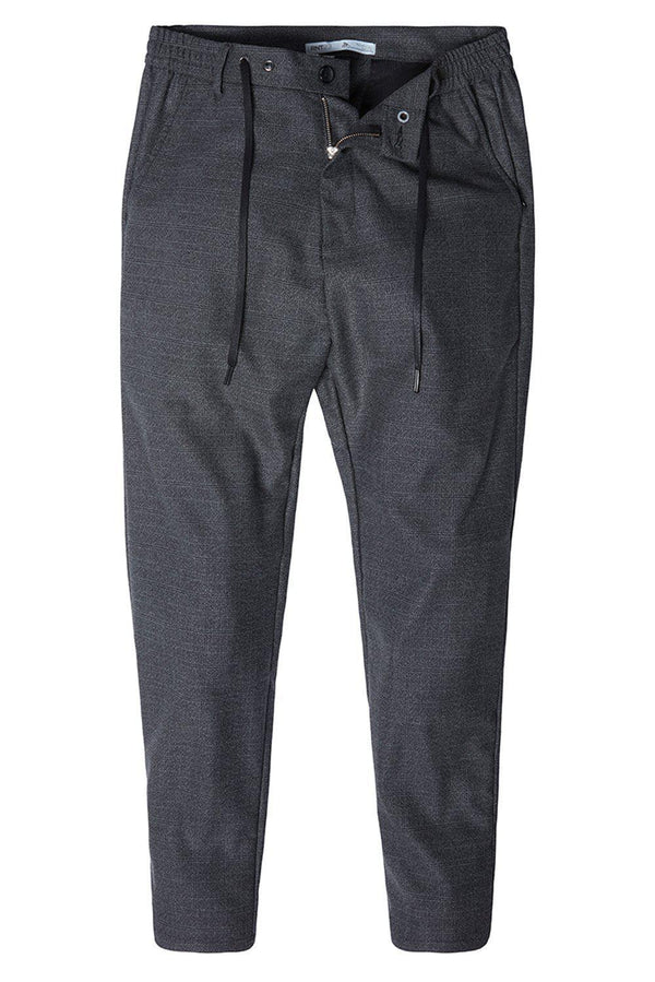 Marled Commuted Trouser - BLACK