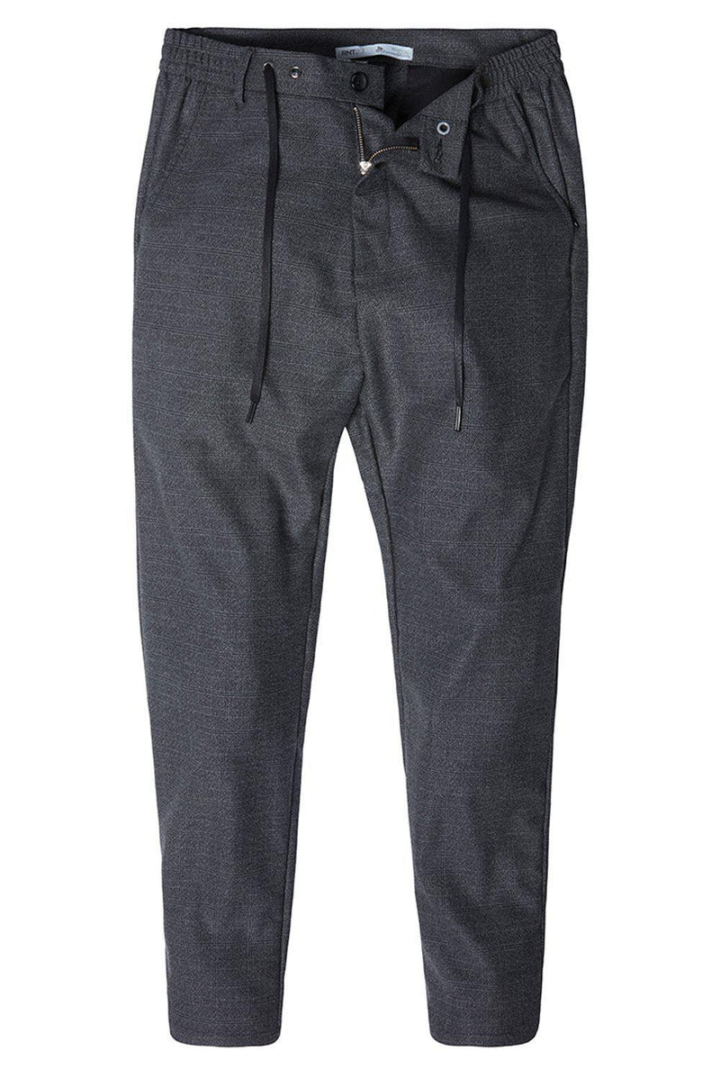 Marled Commuted Trouser - BLACK - Ron Tomson