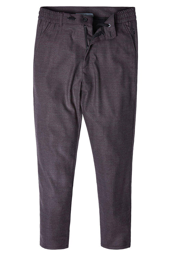 Marled Commuter Trouser - BURGUNDY