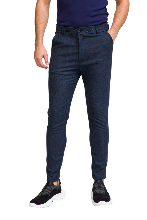 Marled Commuter Trouser - NAVY