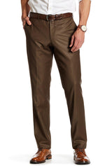Merino Wool Dress Pants - Brown - Ron Tomson