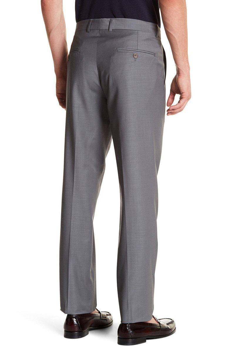 Merino Wool Dress Pants - Grey - Ron Tomson