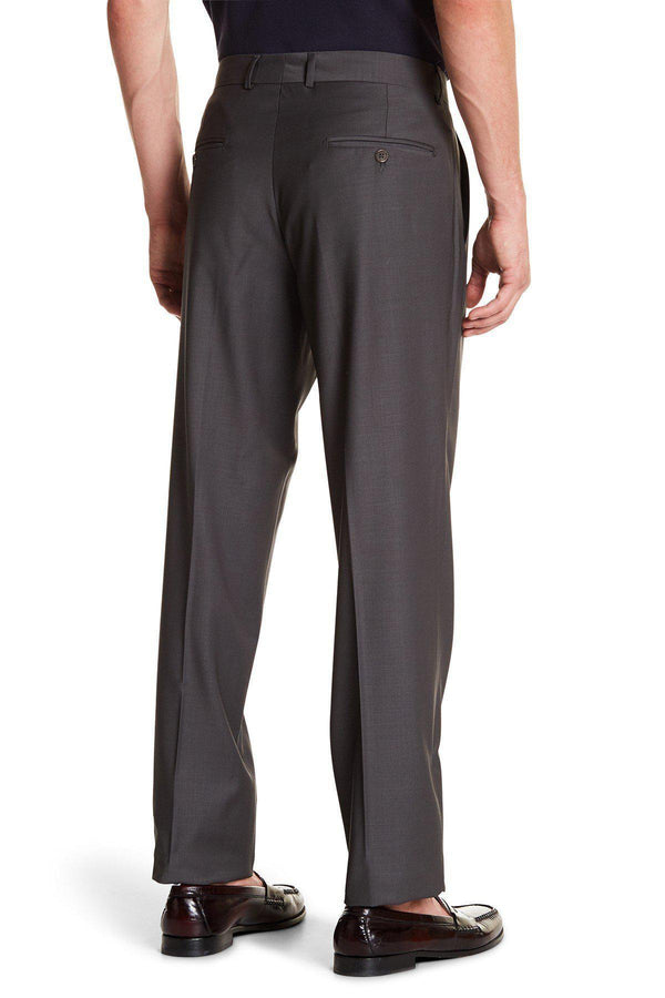 Merino Wool Dress Pants - Light Brown - Ron Tomson