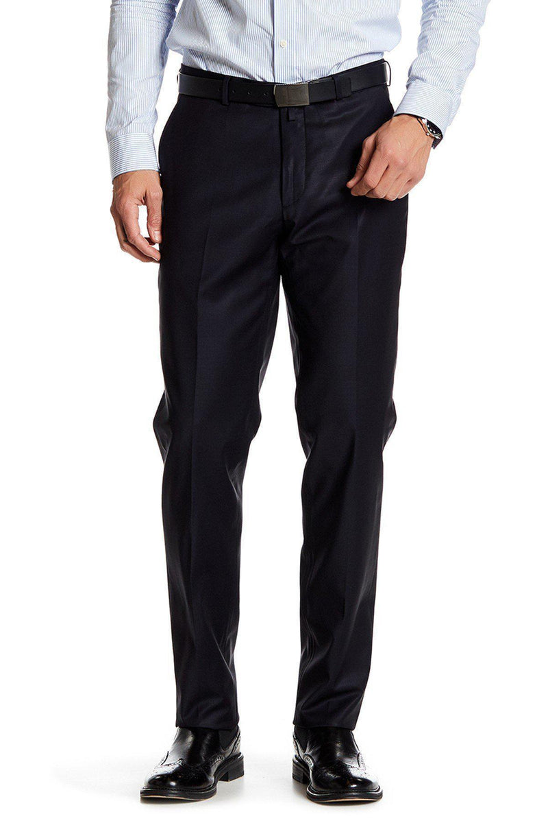 Merino Wool Dress Pants - Navy - Ron Tomson
