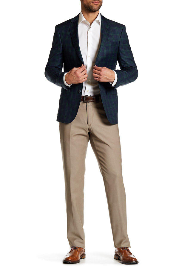 Merino Wool Dress Pants - Stone - Ron Tomson