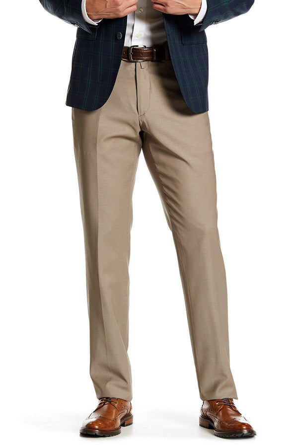 Merino Wool Dress Pants - Stone