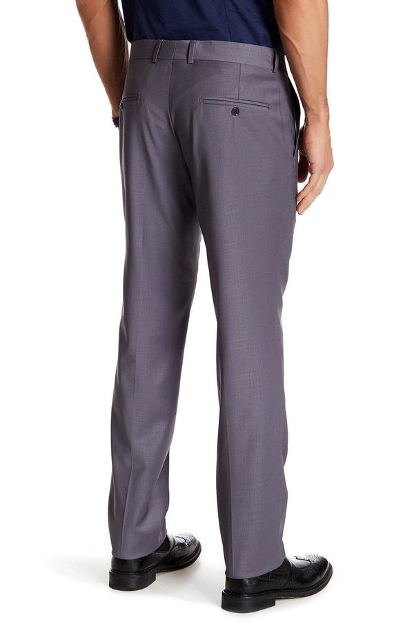Merino Wool Dress Pants - Wine - Ron Tomson