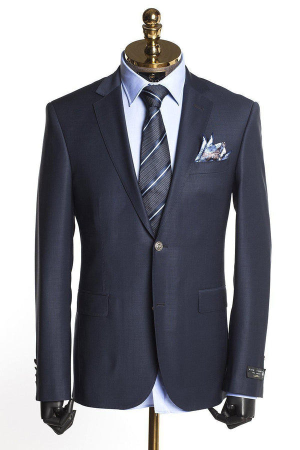 Merino Wool Sport Jacket - More Colors-Suits-Ron Tomson-NAVY-36/46-Ron Tomson