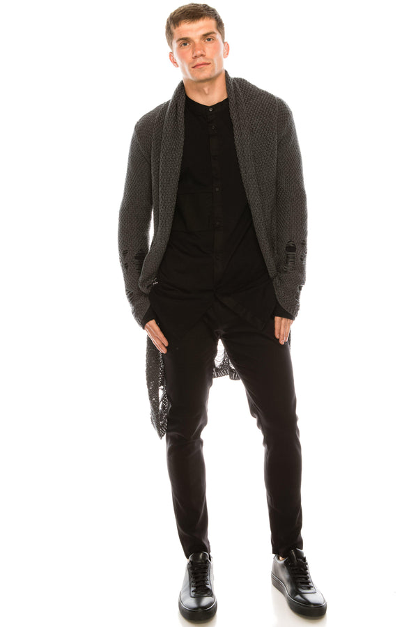 Mr Grunge Cardigan  - Anthracite - Ron Tomson