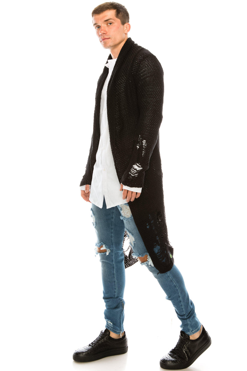 Mr Grunge Cardigan - Black - Ron Tomson