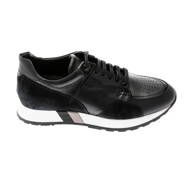 Multi Paneled Sneakers - Black - Ron Tomson