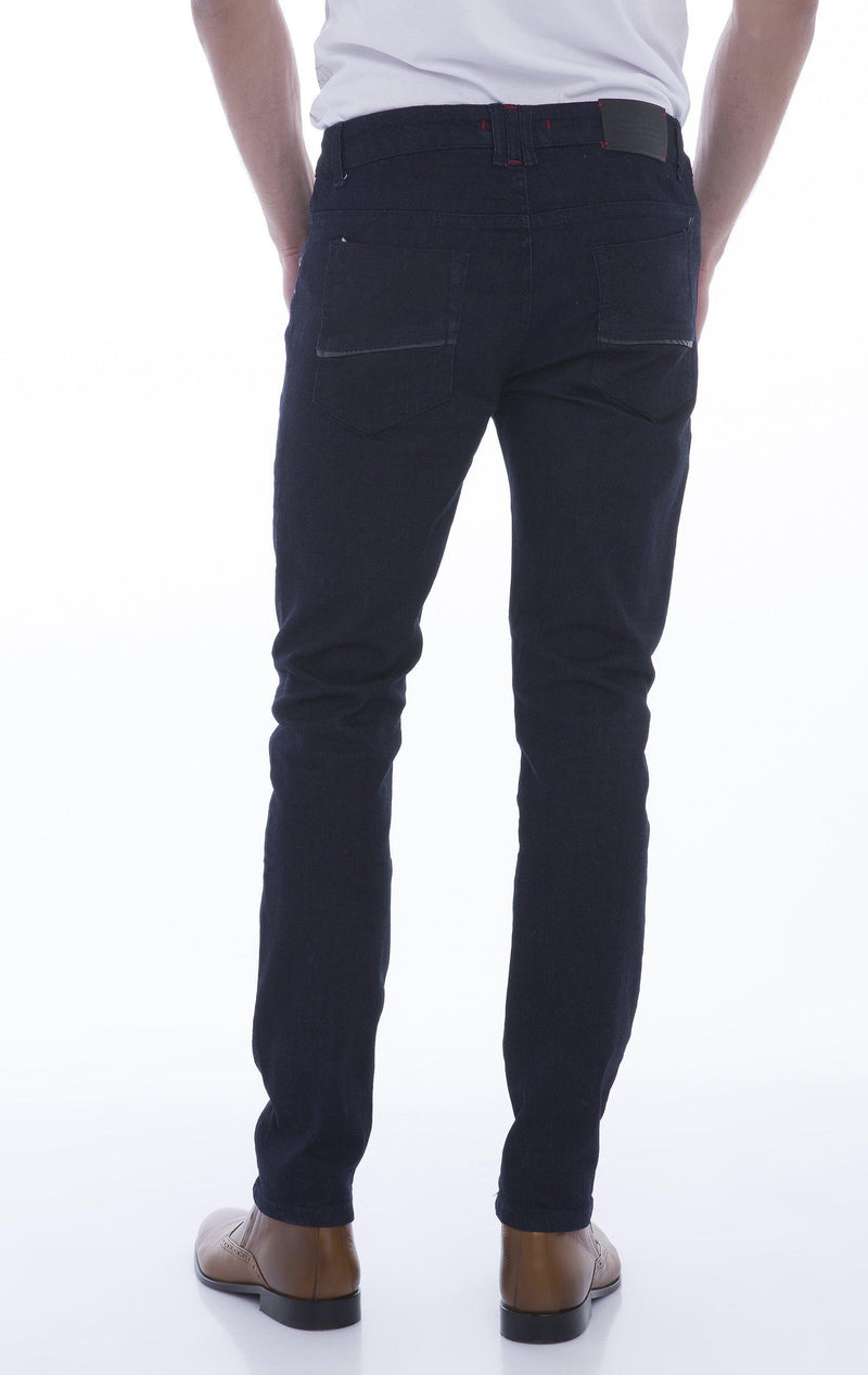 Multi-Zipper Trim Stretchy Jeans-Jeans-Ron Tomson-BLACK-29-Ron Tomson