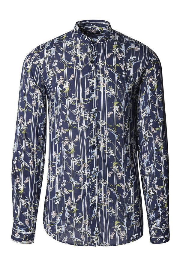 Nature Long Sleeve Shirt - Navy Floral