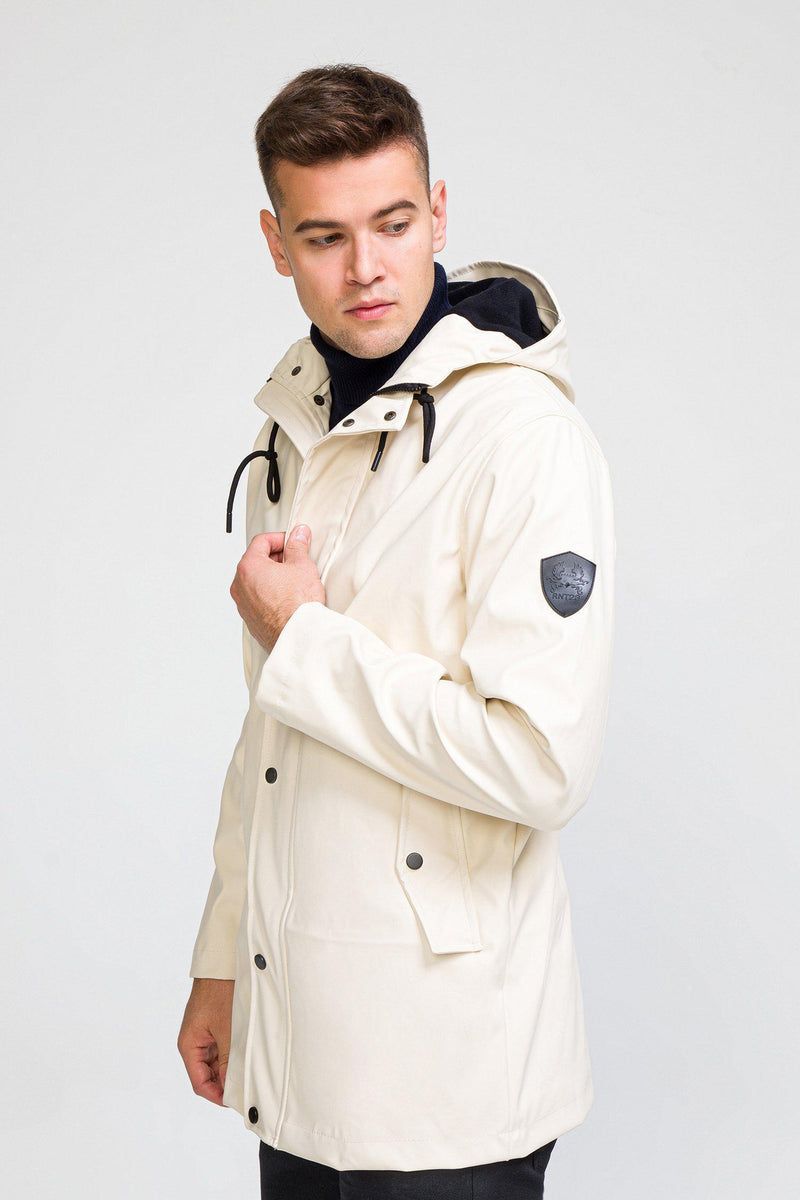 Rubberized Stockholm Raincoat - Ecru - Ron Tomson